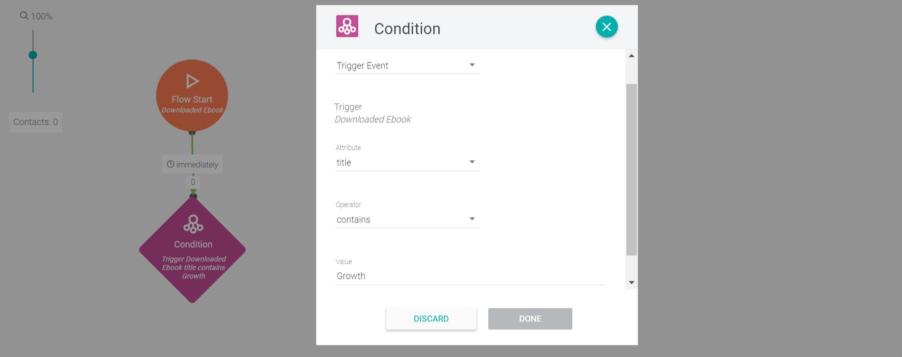 Usar atributo do evento para condicionar uma automação