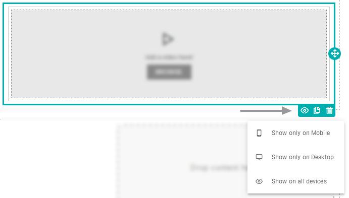 Mudar a visibilidade de um item em diferentes dispositivos