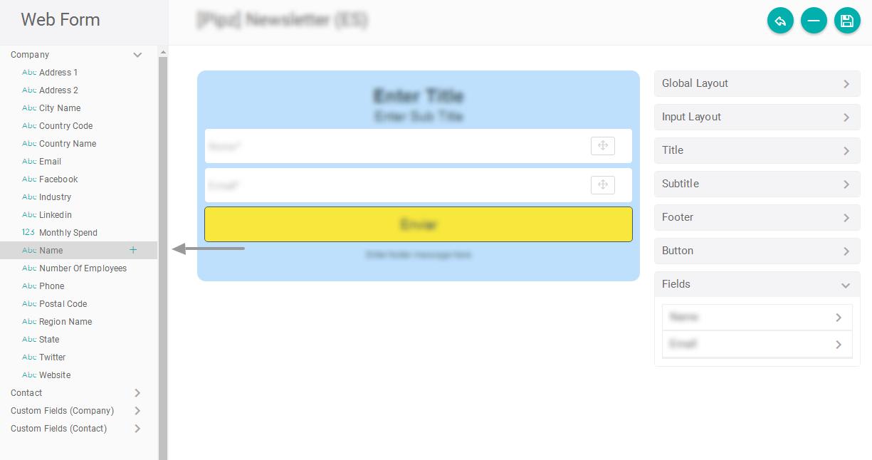 Configurando o formulário para criar empresas