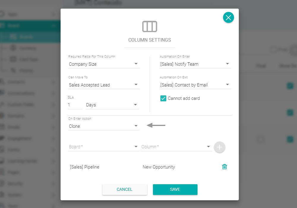 Conectando boards e cards entre processos