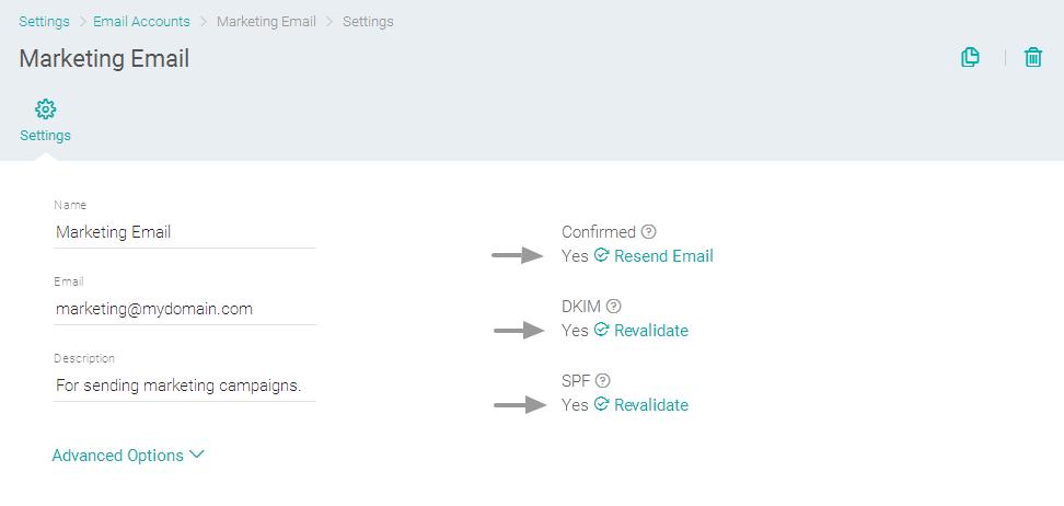 Verificação de autenticação de conta de e-mail