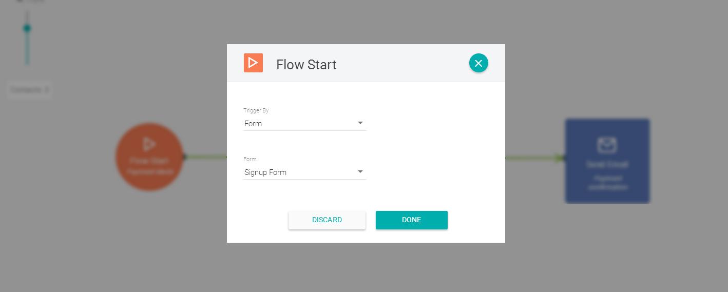 Usando formulários como disparo de automação