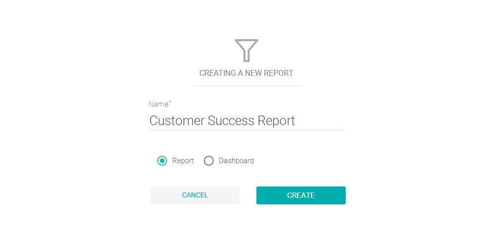 Criando um novo relatório