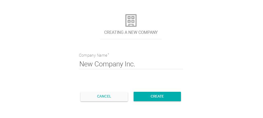Criando uma nova empresa no sistema
