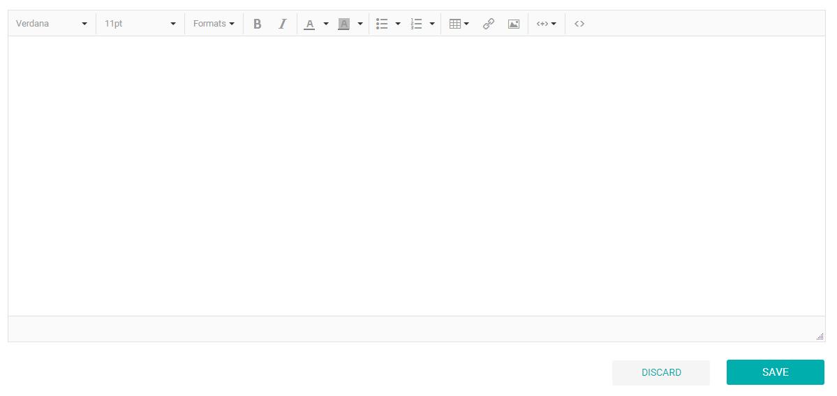 Editando o conteúdo do e-mail no editor RTF